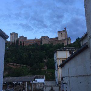 Alhambra in the evening, Granada