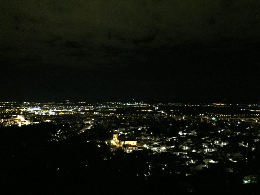 Overlooking Granada at night